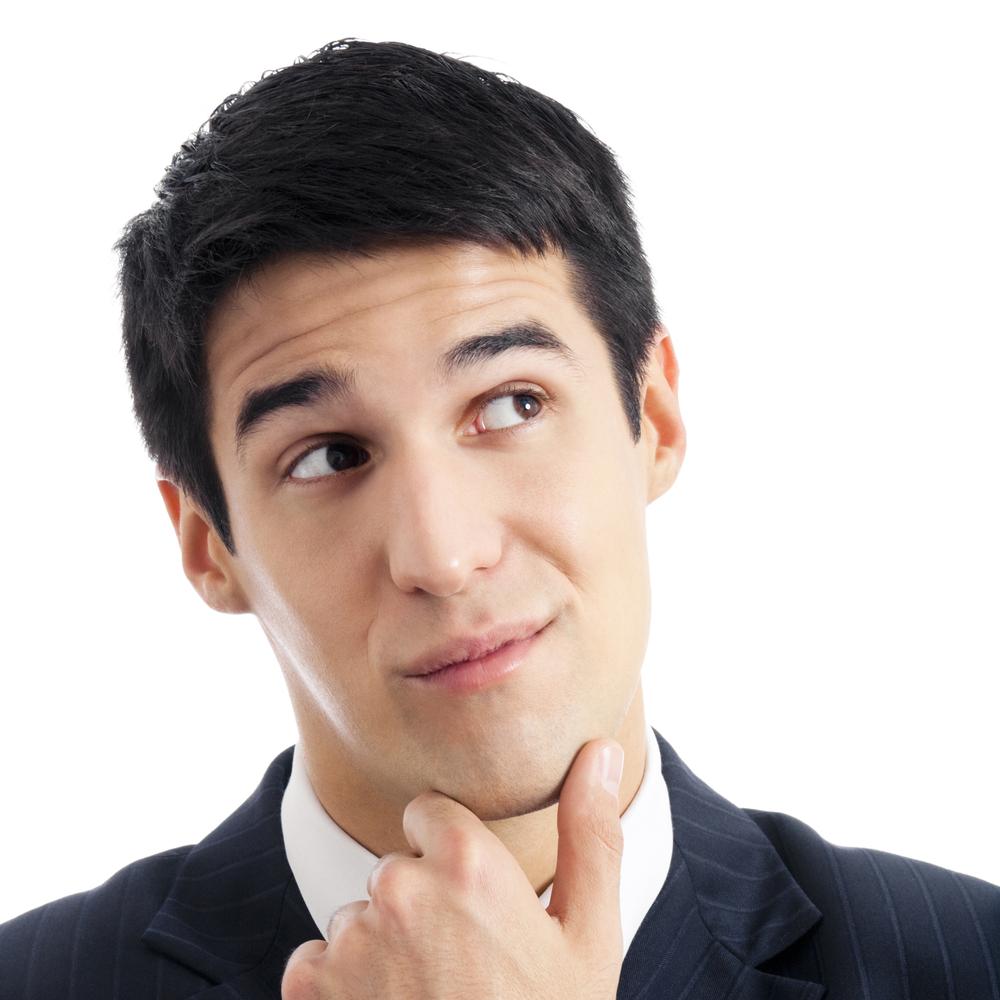 Guy Thinking - Bing images