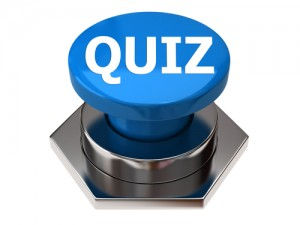 blue quiz button