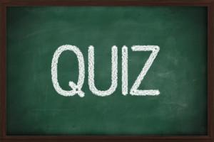 quiz chalkboard